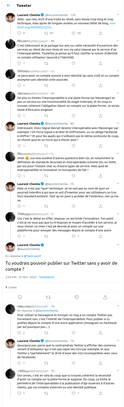 capture d'écran, discussion sur Twitter