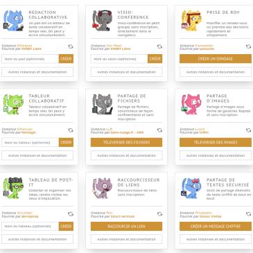 entraide.chatons.org: des services libres en ligne sans inscription