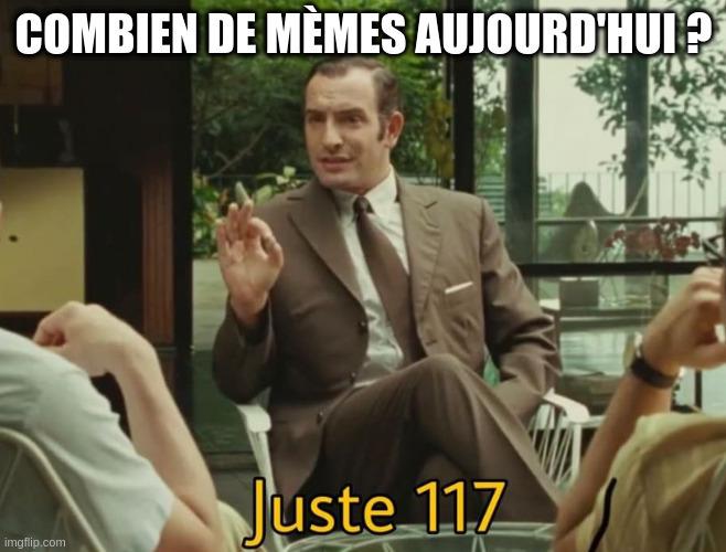 L'agent OSS 117, sous-titré «Combien de mèmes aujourd'hui? Juste 117»
