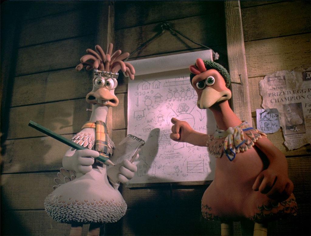 Extrait du film « Chicken Run » où des poules organisent une évasion