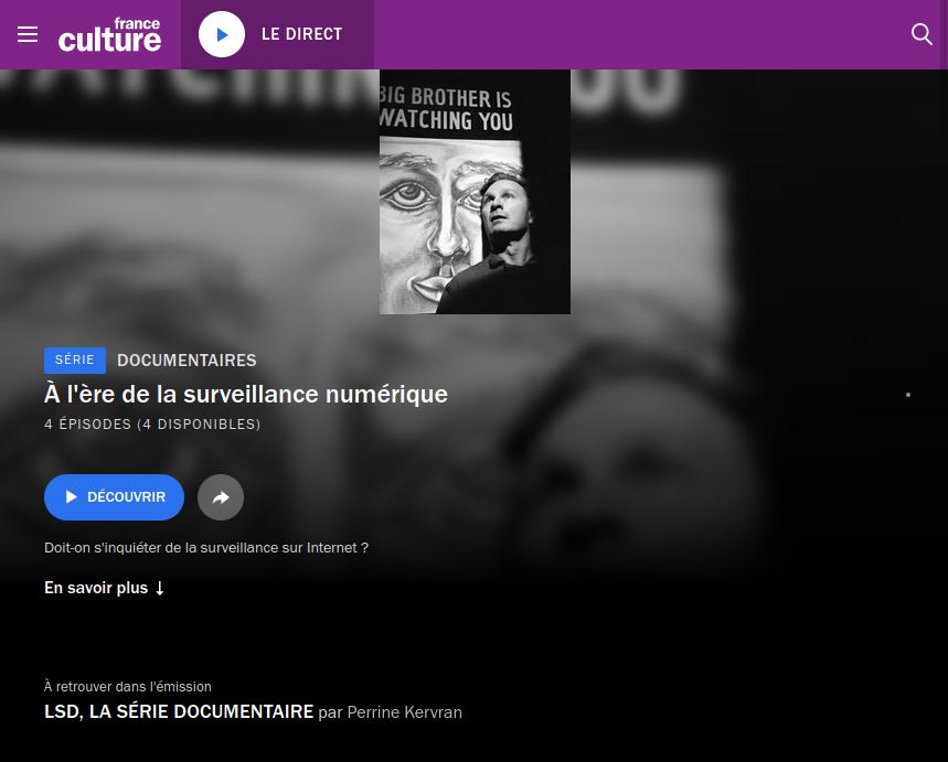 Capture écran de la page de l'émission
